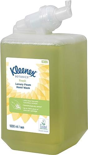 Kleenex Mousse Lavante pour les Mains Botanics Fresh 6386 - Mousse Lavante Parfumée pour les Mains - 6Recharges x 1...
