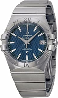 Omega Constellation Co-Axial Automatic Blue Dial Stainless Steel Watch
