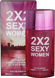 2X2 Sexy Women, Eau De Parfum 3.4 Fl. Oz./ 100 ml - Inspired By 212 Sexy By Carolina Herrera Perfume