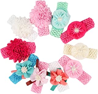 Baby Girl's Beautiful Headbands Newborn,Toddler and Kids Elastic Hairband for Photograph