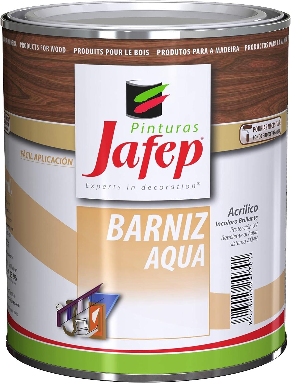Barniz Aqua Acrilico Jafep Roble 750 Ml.