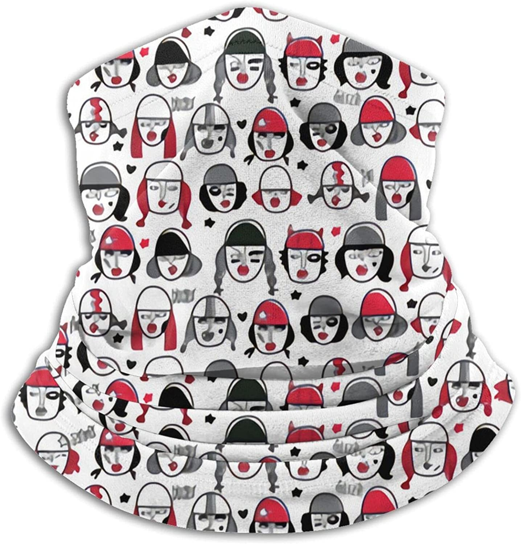 Faces of Derby Bandanas Neck Gaiter Face Mask Scarf Face Shield Black