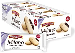 Pepperidge Farm Milano Dark Chocolate Cookies, 7.5 oz. Multi-pack Tray, 10-count 0.75 oz. 2-packs