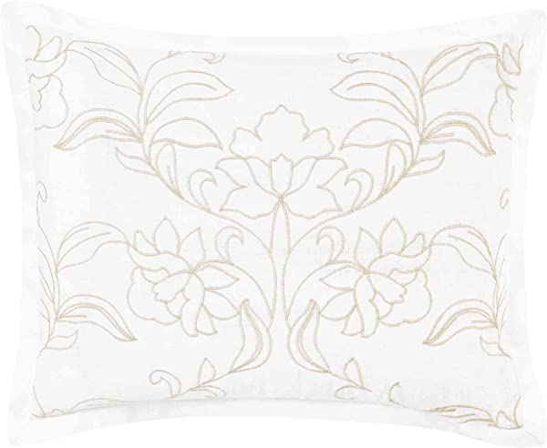 Laura Ashley Claire Throw Pillow 16x20 Ivory