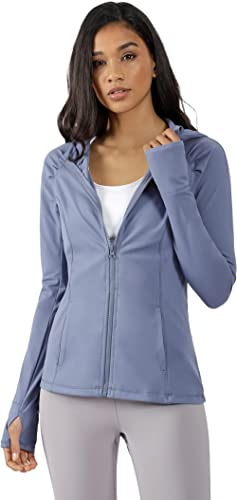 Yogalicious Womens Long Sleeve Full Zip Up Hoodie Jacket