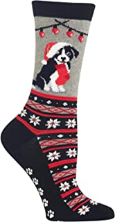 Women's Christmas Border Collie Non Skid Socks
