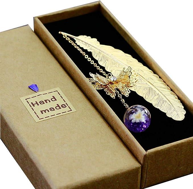 8047 opinioni per Toirxarn Segnalibro in piuma di metallo, con farfalla 3D e perle di vetro