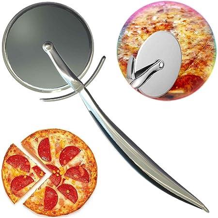 Roulette à Pizza la roulette à découper avec le manche en antidérapant Il coupe facilement les croûtes épaisses et fines et peut également être utilisé pour couper les brownies bien plus encore!