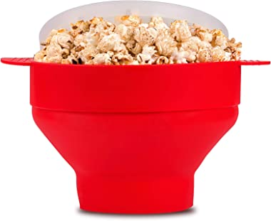 Popcorn Popper, McoMce Silicone Microwave Popcorn Popper Collapsible Bowl, Air Popper Popcorn Maker, Easy & Quick Microwa
