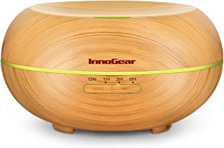 InnoGear Diffusers for Essential Oils, 500ml Wood Grain Essential Oil Diffuser Ultrasonice Aromatherapy Diffusers Aroma Co...