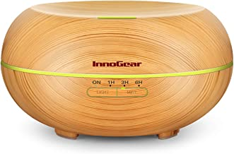 InnoGear Diffusers for Essential Oils, Wood Grain Essential Oil Diffuser Ultrasonice Aromatherapy Diffusers Aroma Cool Mis...