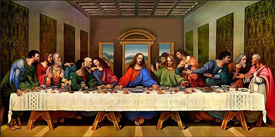 21secret 5D Diamond Diy Painting Full Drill Handmade The Last Supper Christianity Jesus Religious Cross Stitch Home Decor Embroidery Kit fekn275297563653