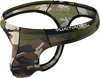 MuscleMate UltraFit Men's Camouflage Thong Underwear, Hot Men's Thong G-String Undie