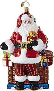 Christopher Radko Santa's Loot Glass Christmas Ornament - 7.5