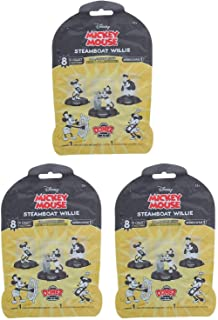 Toynk Mickey Mouse Steamboat Willie Domez Blind Bag Collectible Minis - Lot of 3
