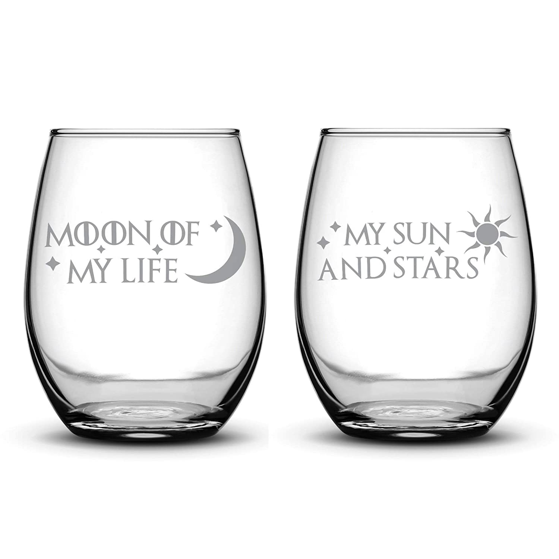 Integrity Bottles Nashville-Davidson Mall Premium Wine 5 ☆ very popular Glasses Set My Lif Moon of 2