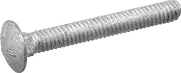 Hot Dip Galvanized 100 The best fasteners 5//16x2 Carriage Bolts