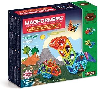 Magformers Mini Dinosaur Set (40 Pieces) Rainbow Colors Magnetic    Building      Blocks, Educational  Magnetic    Tiles Kit , Magnetic    Construction  STEM Animal Toy Set