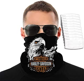 Harley David-Son Face Mask Motorcycle Neck Gaiter Bandanas Balaclavas Masks for Men Women with 10...