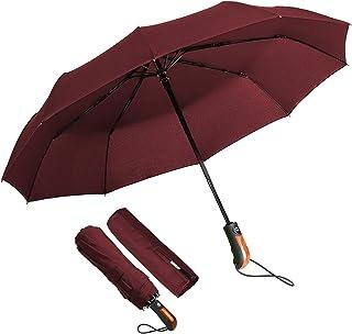 comprar comparacion ECHOICE Paraguas plegable compacto a prueba de viento portátil ligero con tapa