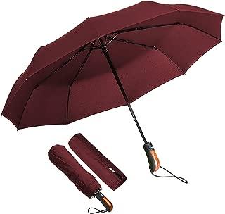 Grande Homme Femme Leger Ouverture Automatique ⌀ 90cm Baciami Parapluie Canne Anti Vent Elegant Noir