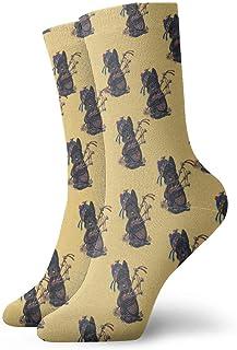 Jhonangel, Niños Niñas Loco Divertido Perro Scottie con calcetines con patrón de gaita Calcetines lindos de vestir de novedad