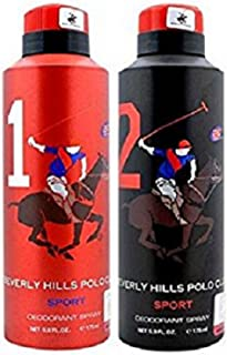 Beverly Hills Polo Club Men Deodorant No. 1 + No. 2- Pack Of 2 (175ml Each)