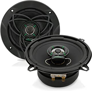 """Upgraded VX 5.25"""" Pair 2-Way Speaker - Powerful 120 Watts Peak 4 Ohms 30 Oz Magnet Structure 55 - 20KHz Frequency Response w/ 1"""" High Voice Coil and Poly-Mica Coated Woofer Cone - Lanzar VX520"""