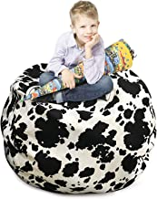 """LAZY CALA LIFE Stuffed Animal Storage Bean Bag Chair - Cover Only - Kids Soft Toys Storage Bean Bag Extra Large 38"""", Stuff..."""