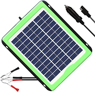 SOLPERK 5W Solar Panel,Solar trickle Charger,Solar Battery Charger and Maintainer, Suitable for Automotive, Motorcycle, Boat, ATV,Marine, RV, Trailer, Powersports, Snowmobile, etc. (5W Solar Panels)