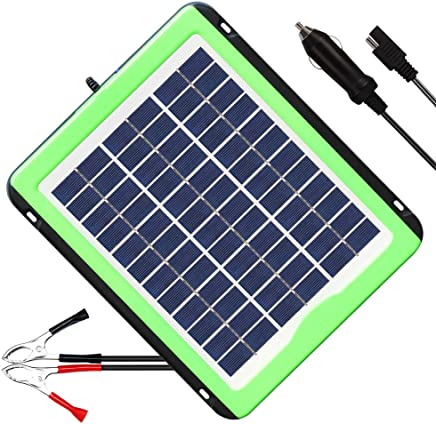 12V solar battery tender,solar trickle charger,Solar Battery Charger and Maintainer, Suitable for Automotive, Motorcycle, Boat, Atv,Marine, RV, Trailer, Powersports, Snowmobile, etc. (5W Solar Panels)