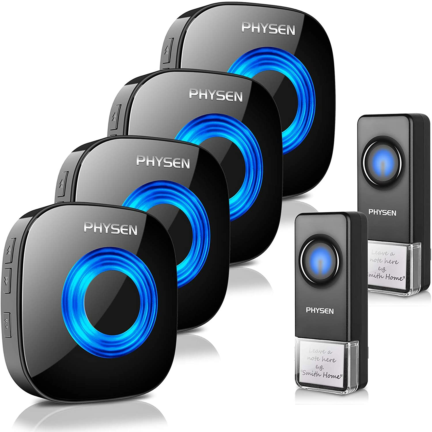 Wireless Max 79% OFF Doorbell PHYSEN Waterproof Door Mute Chimes Free shipping Mode with