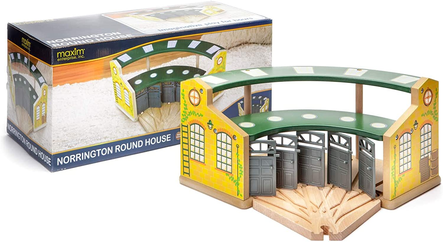 maxim Deluxe enterprise Wooden Train List price Round 5-Way House with Switching