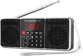 【PSE認証済】Gemean J-288 ポータブル ラジオ ワイド fm am ステレオ 携帯ラジオ bluetooth スピーカー ステレオサウンド、AUXジャック、スリープタイマー機能を備えたロングアンテナラジオ。アウトドアや災害時に対応...