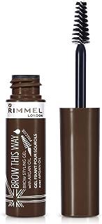 Rimmel London, Brow This Way Eyebrow Gel with Argan Oil, Dark Brown