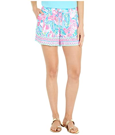 Lilly Pulitzer Katia Shorts (Blue Ibiza Gimme The Juice Engineered) Women