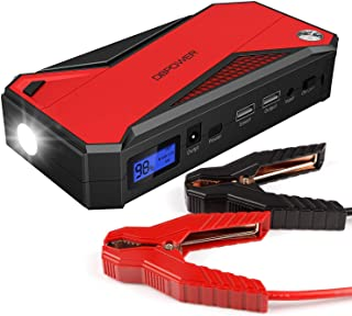 DBPOWER 600A 18000mAh Portable Car Jump Starter (up to 6.5L Gas, 5.2L Diesel Engine) Battery Booster and Phone Charger with Smart Charging Port (Black/Red)