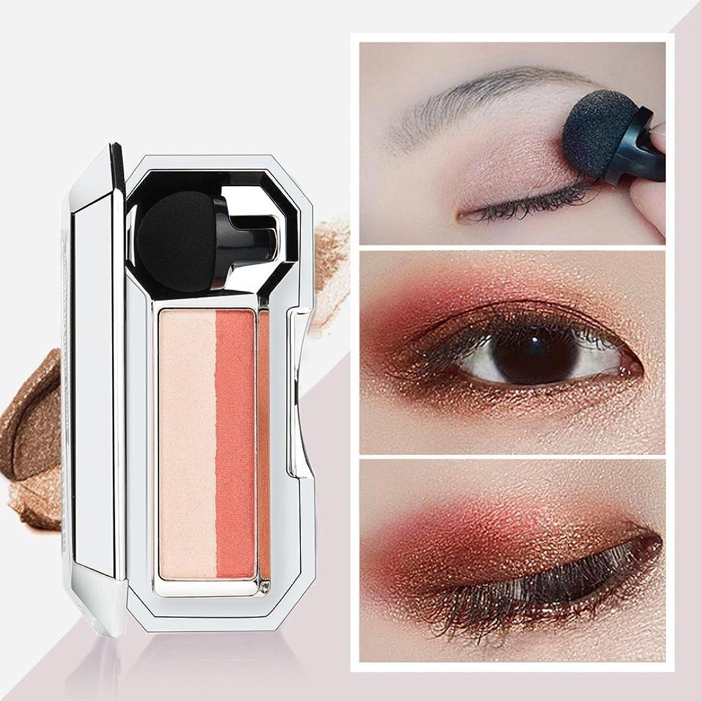溶けるツーリストパイプビューティー アイシャドー BOBOGOJP 女性 2色 可愛い デザイン ミニスタンプアイシャドーパレット 携帯便利 極め細かい 化粧パウダー 持続性 スモーキーメイク (26F)