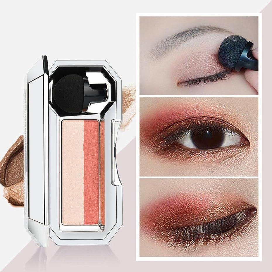 子音レプリカウェーハビューティー アイシャドー BOBOGOJP 女性 2色 可愛い デザイン ミニスタンプアイシャドーパレット 携帯便利 極め細かい 化粧パウダー 持続性 スモーキーメイク (26F)