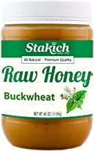 Stakich Buckwheat Antioxidant Raw Honey - 40 Ounce - Pure, Unprocessed, Unheated, Kosher