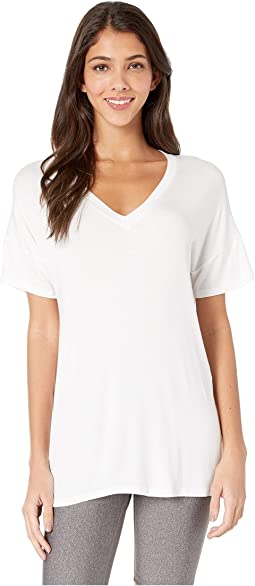 Maternity Side Splits V-Neck Tee