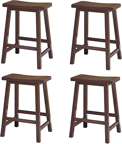 Winsome 94084 Satori Stool 24 Walnut Pack Of 4