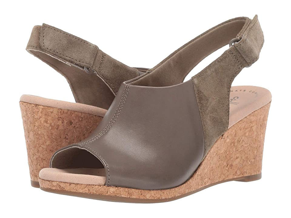 Clarks Lafley Jess (Olive Leather/Suede Combi) Women