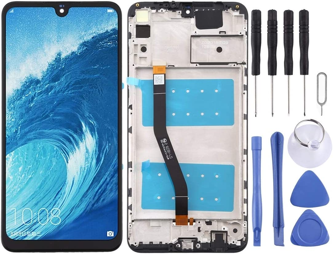 Color : Black Black HEGUANGWEI Replacement Parts LCD Screen and Digitizer Full Assembly with Frame for Huawei Honor 8X Max Cell Phone LCD Screen Accessories
