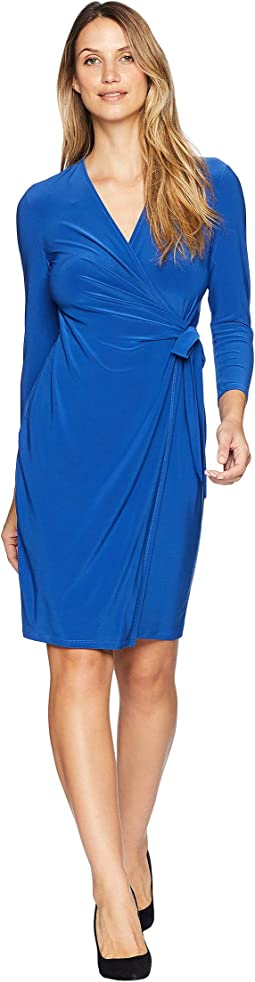 Solid Jersey Wrap Dress