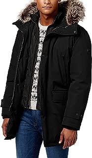 Men's Heavyweight Hooded Snorkel Parka Coat with Bib
