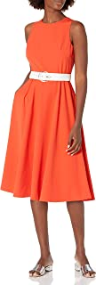 Vince Camuto Women's Midi Fit and Flare Dress