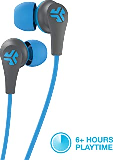 JLab Audio JBuds Pro Bluetooth Wireless Signature Earbuds | Titanium 10mm Drivers | 6-Hour Battery Life | Music Controls | Noise Isolation | Bluetooth 4.1 Extra Gel Tips and Cush Fins | Graphite/Blu
