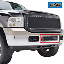 EAG Rivet Black Stainless Steel Wire Mesh Overlay Bumper Grille Fit for 05-07 Ford Super Duty F250/F350/F450/F550