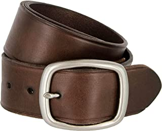 BBBelts Men 1-1//8 Reversible Black Brown Textured Leather Silver Buckle Belt